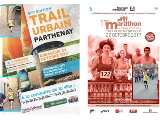 Trail urbain Parthenay - Marathon Toulouse - 22/10/2017