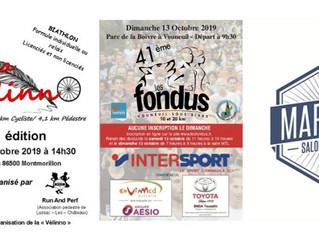 La Vélino à Montmorillon - 10 et 20 km de Vouneuil sous Biard -  Marathon de Salon de Provence - 12