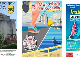 La Course du Donjon à La Roche-Posay / Marathon de La Rochelle / Trail de la Rose à Antran - 23 et 2