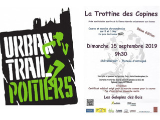 Urban trail de Poitiers - Trottine des Copines (Antoigné) - Foulées de Futurauto - 14 et 15/09/2019
