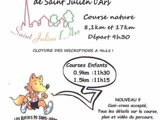 Les Foulées de Saint Julien l'Ars - 10/09/2017