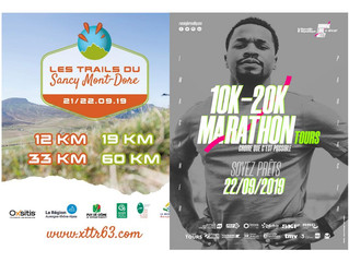 Trail du Sancy-Mont Dore / 20 KM de Tours - 21 et 22/09/2019
