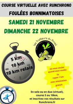 Foulées Bonnimatoises virtuelles - 22/11/2020