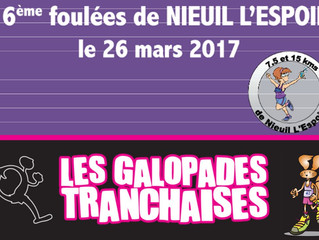 Foulées de Nieuil et Galopades Tranchaises - 26/03/2017