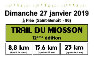 Trail du Miosson à St Benoît - 27/01/2019