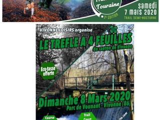 Trail sud Touraine à Chambon (37) - Le trèfle à 4 feuilles à Vivonne - 7 et 8/03/2020