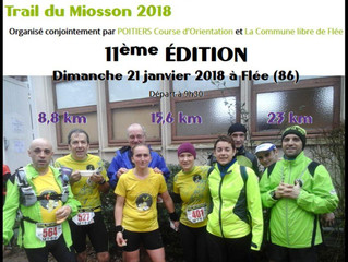 Trail du Miosson à Flée - 21/01/2018