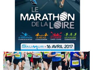 Marathon de la Loire  à Saumur - 16/04/2017 et 10km/semi-marathon de Châtellerault - 17/04/2017