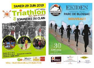 Week-end du 29 et 30 juin 2019 - Triathlon Nature de Sommières et Ekiden de Poitiers