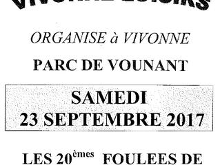 Foulées de l'Espoir à Vivonne - 23/09/2017