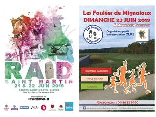 Raid Saint Martin et Foulées de Mignaloux-Beauvoir - 22 et 23/06/19