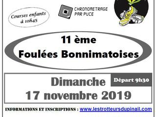 Les Foulées Bonnimatoises - Bonneuil-Matours - 17/11/19