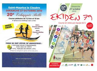 L'échappée belle à St Maurice la Clouère - Ekiden de Niort - 27/10/19