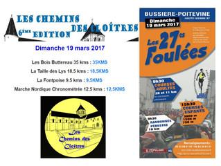 Les Chemins des Cloîtres à Lencloître et les Foulées de Bussière-Poitevine (87)