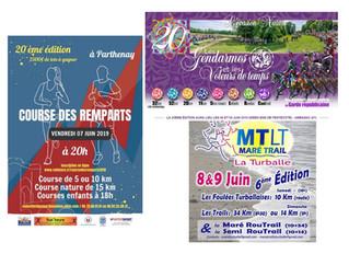 Week-end de la Pentecôte : Parthenay (79), La Turballe (44), Ambazac (87) - 8 au 10 juin 2019