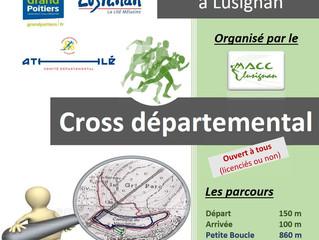 Cross départemental de Lusignan - 06/01/2019