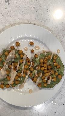 Avocado toast with roasted chickpeas