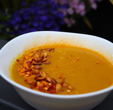 Butternut squash and turmeric soup