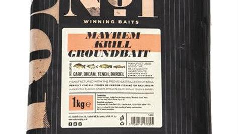 Peg No. 1 Mayhem Krill Groundbait Carp Bream Barbel 1Kg