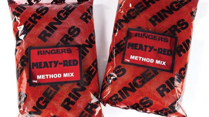 Ringers Meaty Red Method Mix Carp Groundbait 1Kg