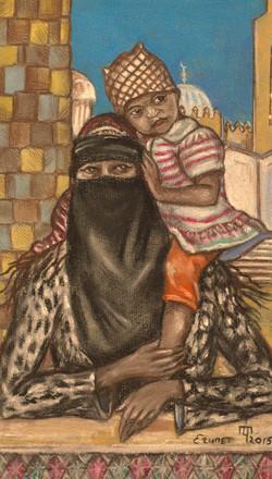Хургада. Египтянка с ребёнком