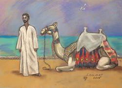 Египет. Погонщик с верблюдом