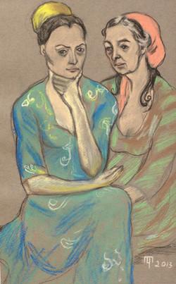 Цыганки. Мать и дочь