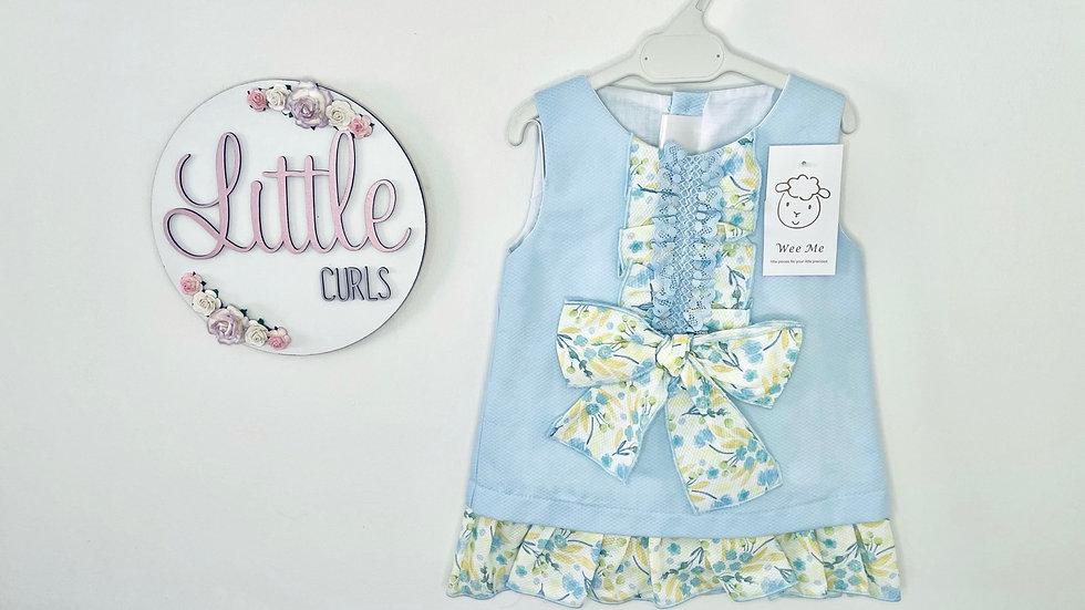 Wee Mee lemon & blue dress + pants