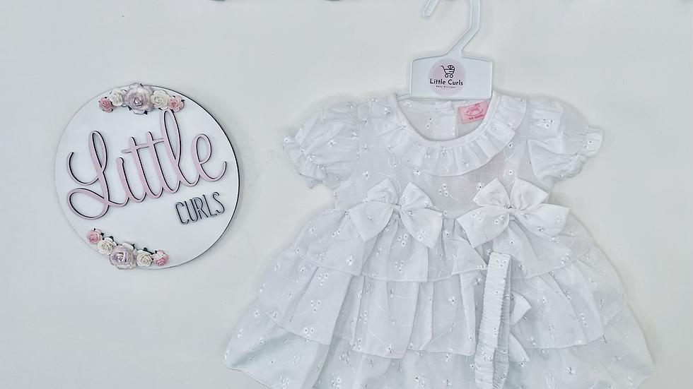 All white Bella dress