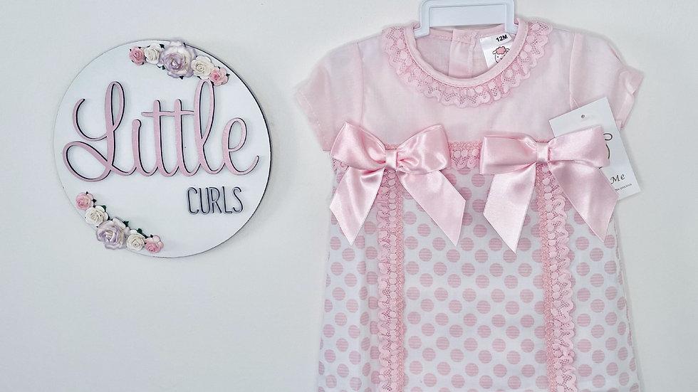 Wee Me pink dress & pants set