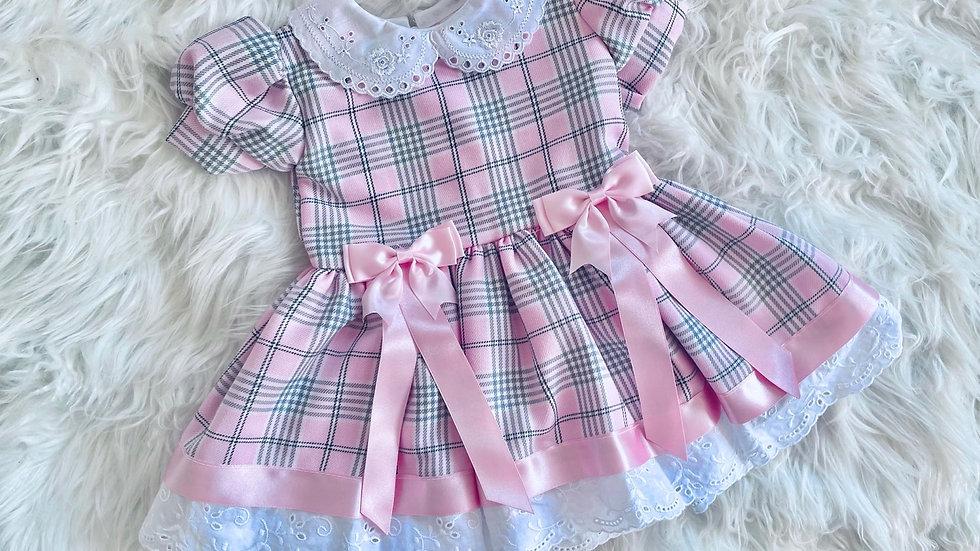 Pink Arabella Tartan Dress