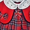 Thumbnail: Red tartan dress cardigan & hat