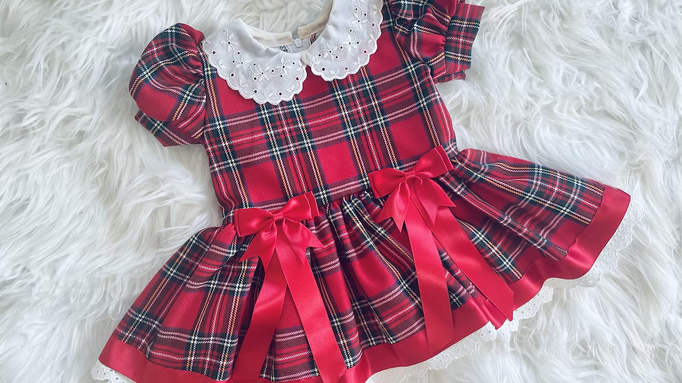 Red Arabella Tartan Dress