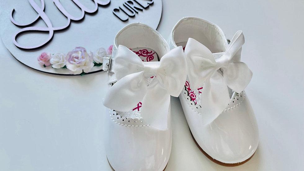 White Melia bow shoes