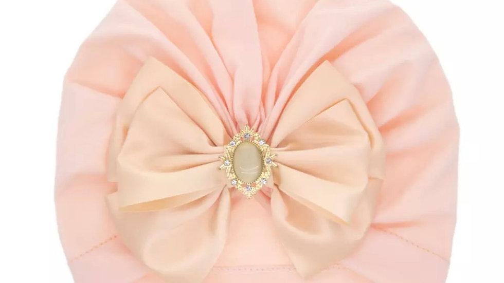 Peach Diamanté Turban