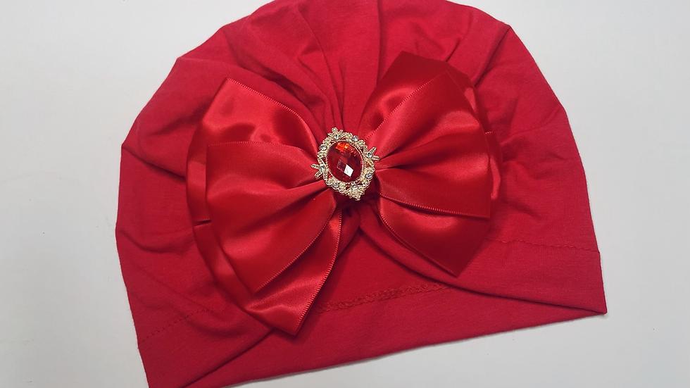 Red Diamanté Turban