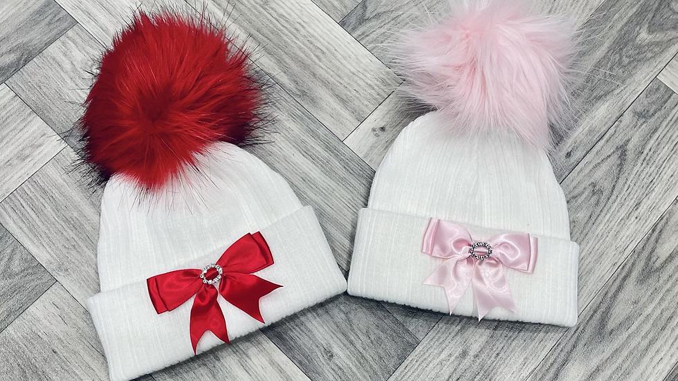 Bow Fur Hats