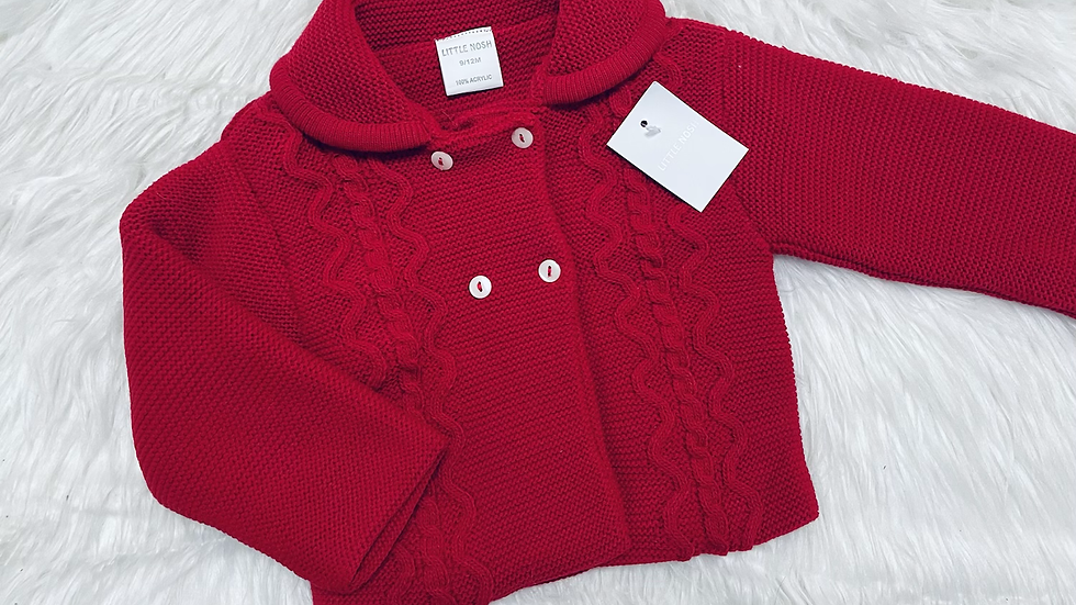Red Knitted Jacket