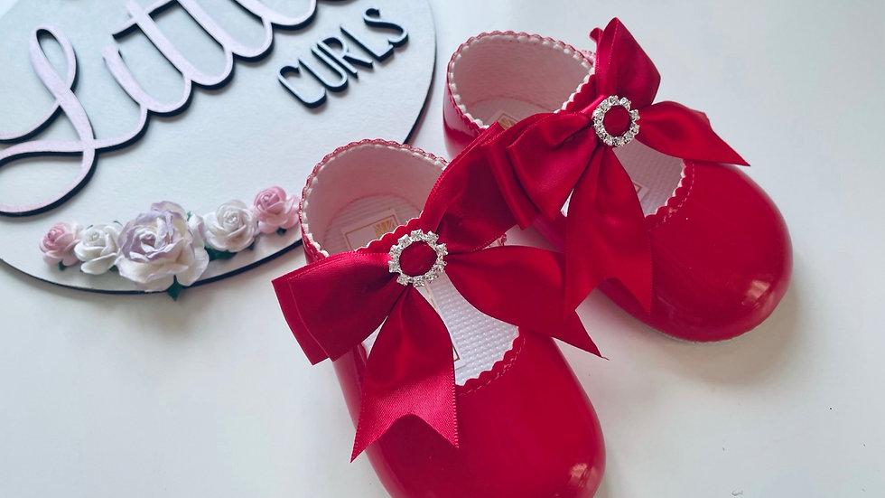 Red soft sole diamanté Baypods