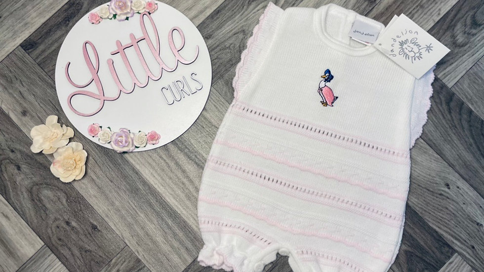 Jemima Puddle Duck Knitted Romper