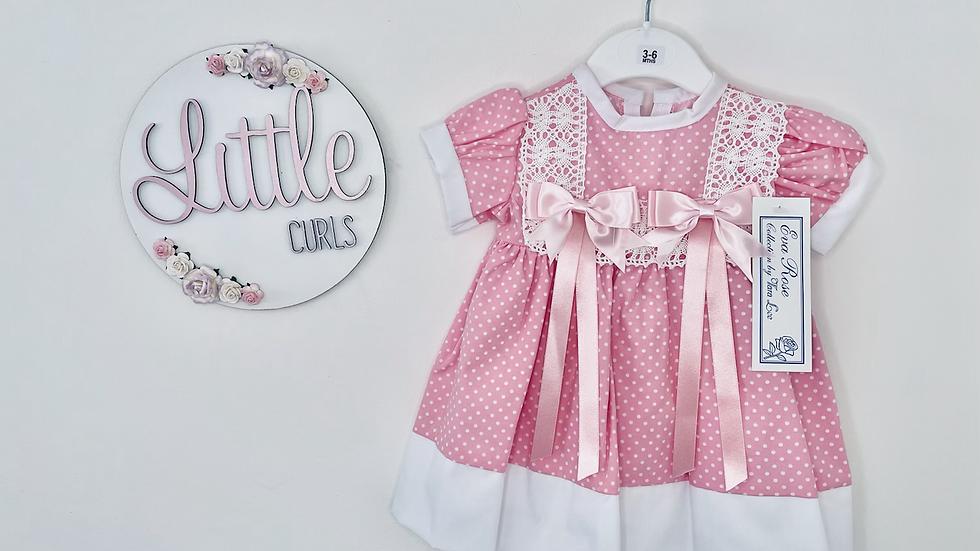 Bright pink spotty dress