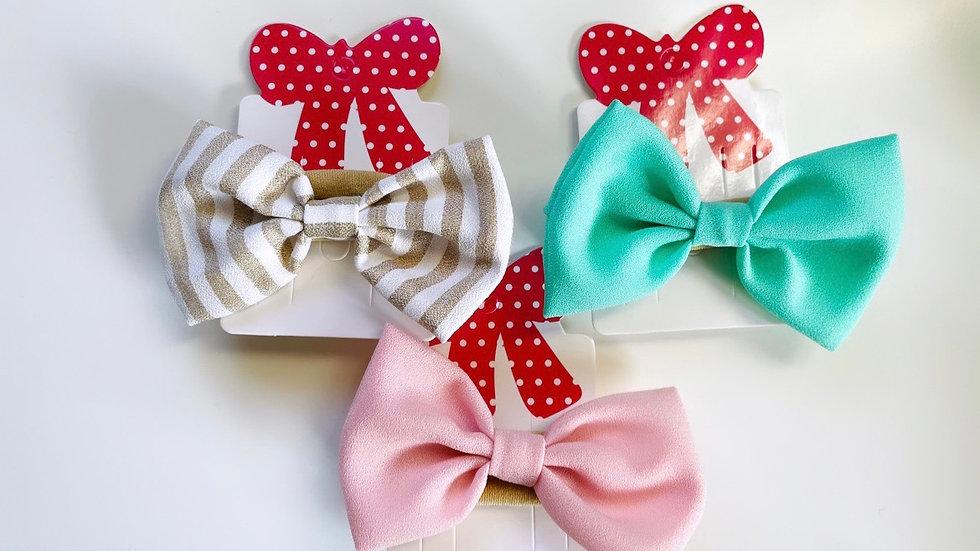 Bow soft strech headbands
