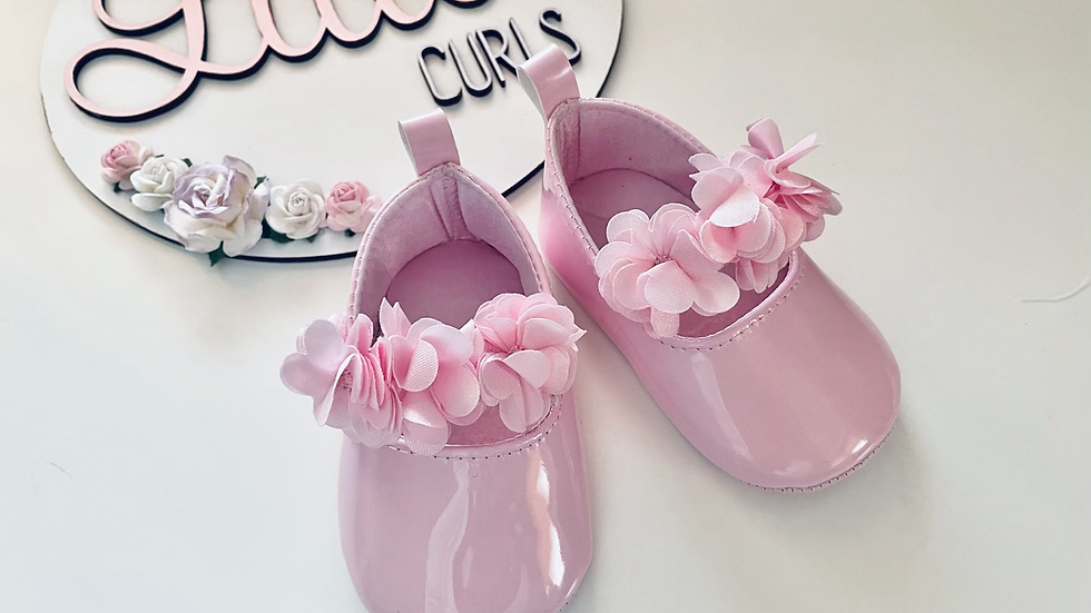 Soft sole pink floral shoe