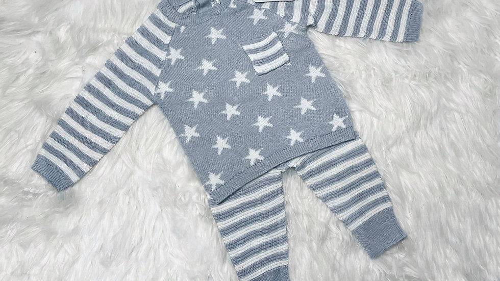 Grey Stars knitted set