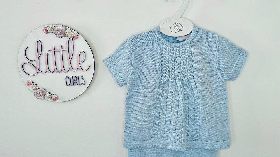Blue knit 2 piece