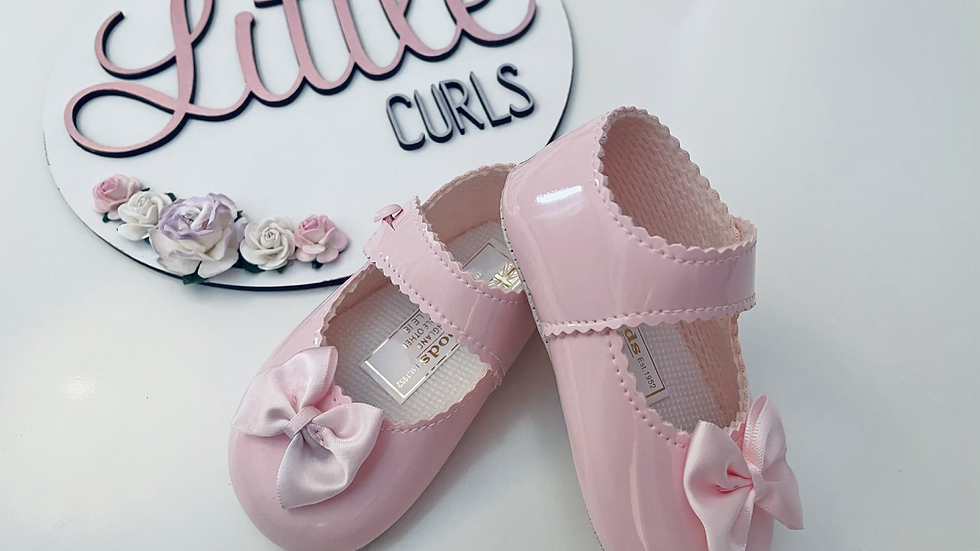 Pink bow baypods - soft sole