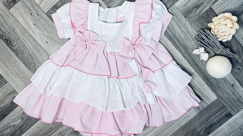 Pink Bella stripe dress