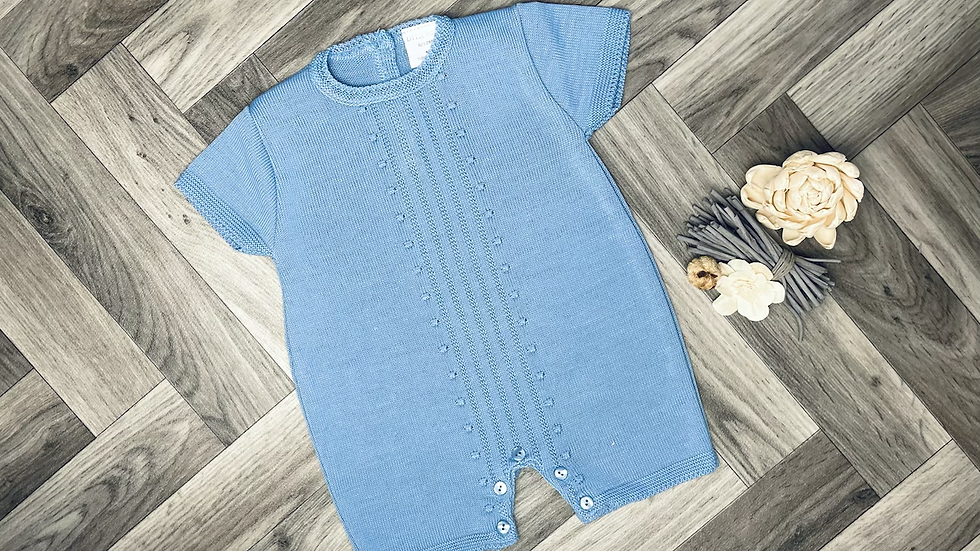 Blue knitted one piece