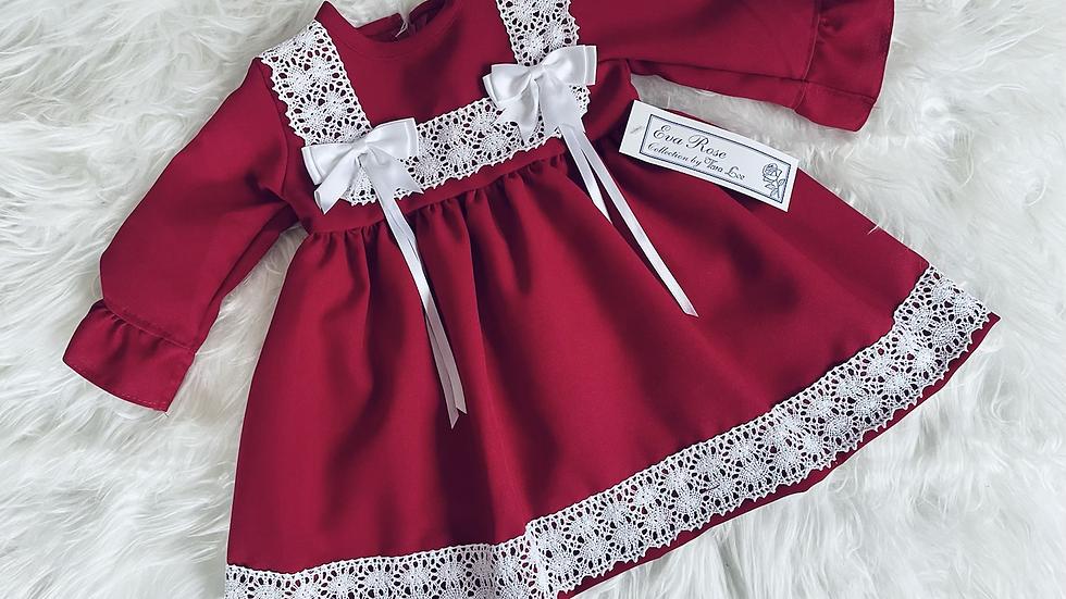 Wine Lace Eva Rose dress
