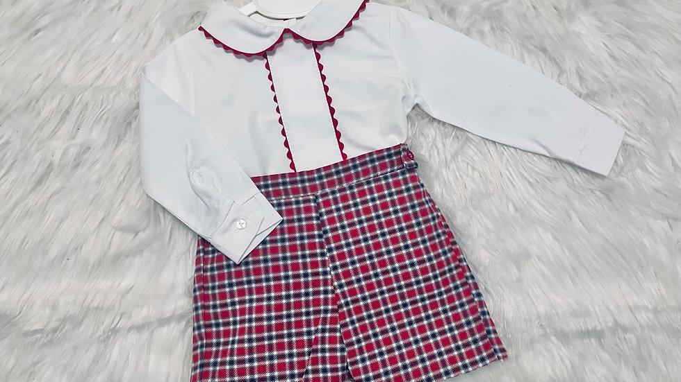 Boys Tartan shirt and shorts set